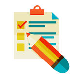Checklist Royalty Free Stock Images