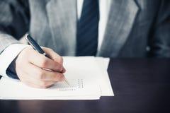 checklist Imagens de Stock