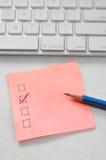checklist Fotografie Stock Libere da Diritti