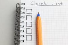 checklist Photos libres de droits
