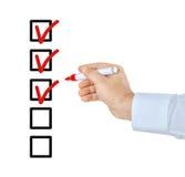 checklist Fotografie Stock