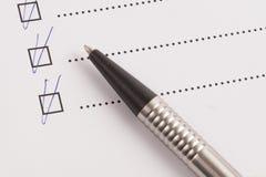 checklist foto de archivo