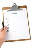 checklist fotografia stock