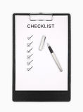 checklist Foto de Stock Royalty Free