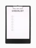 checklist Fotografia de Stock Royalty Free