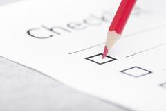 checklist zdjęcia stock