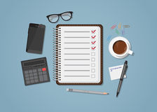 checklist illustrazione di stock