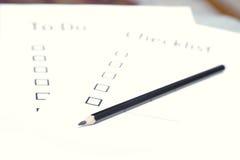 checklist Fotografia Royalty Free