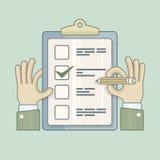 checklist ilustración del vector