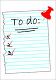 A checklist with all boxes ticked. A piece of paper with all boxes ticked Royalty Free Stock Photo