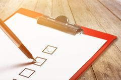 Checklist. Application box business check choice closeup royalty free stock images