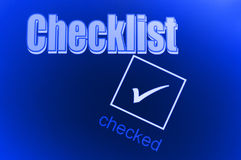 Checklist background Stock Images