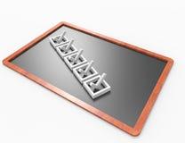 Checklist on blackboard concept Stock Photo