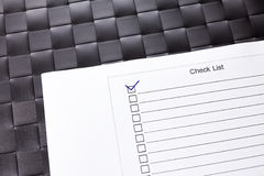 Checklist with check mark ticked. Royalty Free Stock Photography