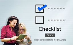 Checklist Choice Decision Document Mark Concept Royalty Free Stock Photography