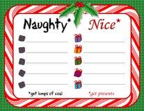 checklist christmas naughty nice stock illustrationer