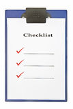 Checklist on clipboard Royalty Free Stock Photo