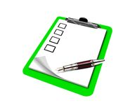 Checklist on clipboard Stock Photography