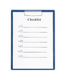 Checklist and Clipboard Stock Image