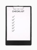 Checklist Royalty Free Stock Photos