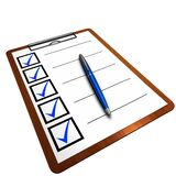 Checklist, Clipboard, Questionnaire Royalty Free Stock Image