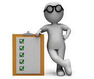 Checklist Clipboard Shows Test Questionnaire. Checklist Clipboard Shows Test To Do List Or Questionnaire Stock Image