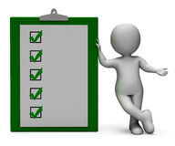Checklist Clipboard Shows Test Or Survey Stock Image