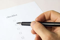 Checklist close up Royalty Free Stock Images