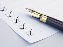 Checklist concept Royalty Free Stock Images