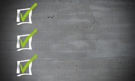 Checklist on concrete concept