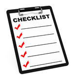 The checklist Stock Images