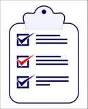 checklist do tasks Στοκ Φωτογραφίες