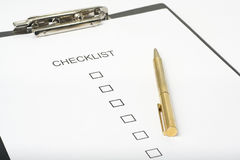 Checklist form Stock Image