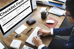 Checklist Form Document Data Information Contract Concept Royalty Free Stock Photography