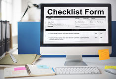 Checklist Form Document Data Information Contract Concept Stock Images