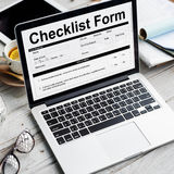 Checklist Form Document Data Information Contract Concept Royalty Free Stock Images