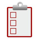 Checklist icon red empty Royalty Free Stock Image