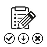 Checklist  icon stock vector illustration flat design Royalty Free Stock Photography