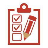 Checklist icon on white background. royalty free illustration