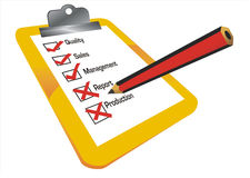 Checklist illustration Royalty Free Stock Photo