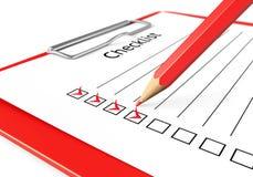 Checklist illustration Royalty Free Stock Photo