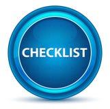 Checklist Eyeball Blue Round Button vector illustration