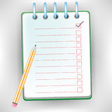 Checklist notebook Royalty Free Stock Images
