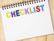 Checklist on notebook 21 Stock Photos