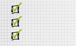 Checklist on notepad concept royalty free stock images