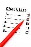 Checklist with number Royalty Free Stock Photos