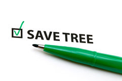 Checklist option for save tree Royalty Free Stock Photography