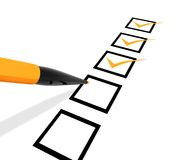 Checklist Royalty Free Stock Photography