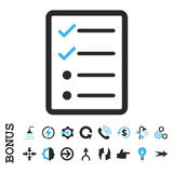 Checklist Page Flat Vector Icon With Bonus Royalty Free Stock Photo