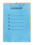 Checklist paper on clipboard isolate on white Stock Images